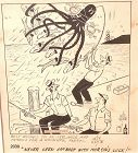 "Jeff Keate American Cartoonist Original 10x8"""