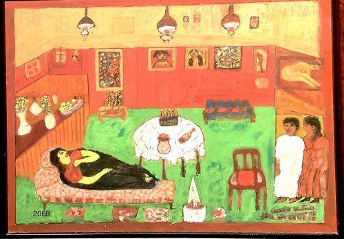 "Gilbert Goiffel artist. ""The Artist Exhibiting"" oil 18x24"""