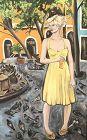 Master Artist Anne Lane American,�Woman in San Juan �oil 48x30
