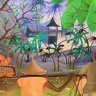 American Artist Felix Hoffer �Artist In Indonesia� Oil 17x25�
