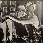 Anne Lane American Artist �Loving Couple� Oil 36x36�