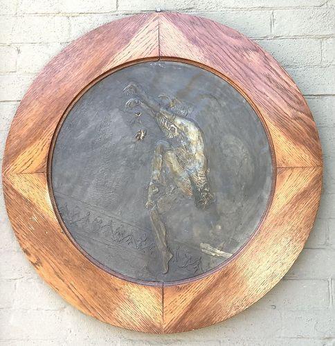 Isadora DuncanArt Nouveau Copper Sculpture Signed