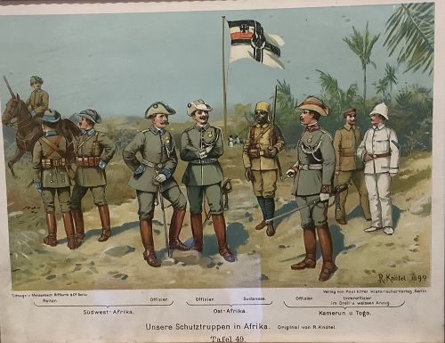 South African Boer War Hero's Lithograph by R.Knötel 1899