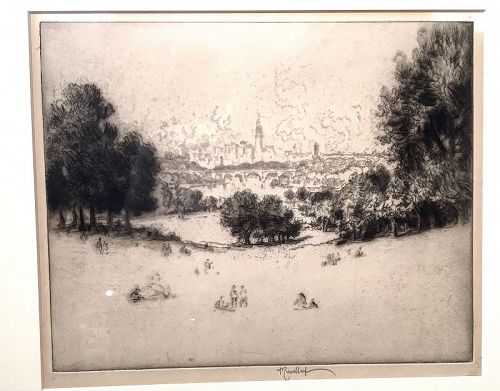 "View of Philadelphia by Artist Joseph Pennell 1857-1923 8x10"""