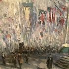 Child Hassam Tribute �Flags On Fifth Avenue WWI� 24x20�