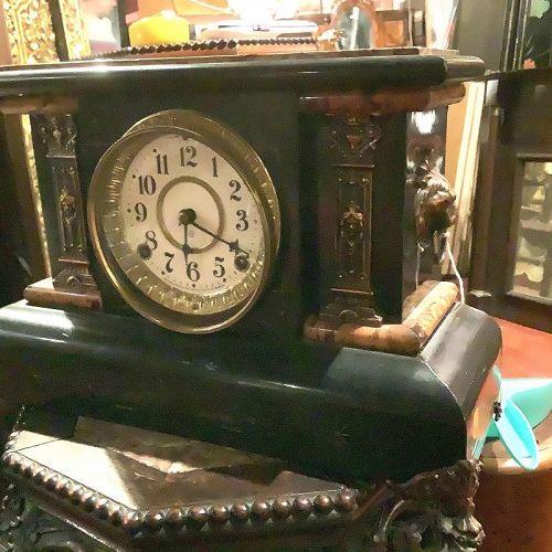 "American Early Twentieth Century Mantle Clock 17"""