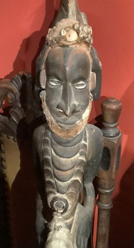 """Papua New Guinea Carved Diety Sculpture 39x9"""""""