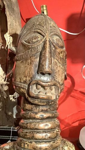 """Possibly Mali African Carved Sculpture 74x12"""""""