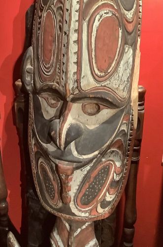 "Papua New Guinea Sculpture Sacred Totem 30x15"""