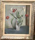 Artist Hugo Belving 1946 Still Life with Tulips 22x18�