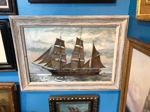 Arnold Knauth American Marine Painter of Gloucester  b.1918-2017