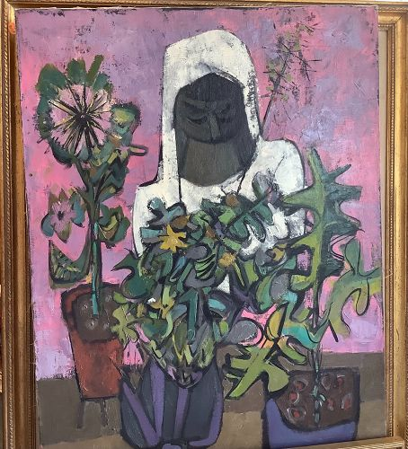 """Artist Walter Feldman 1925-2018,de Kooning Student,Modernist  30x22"""""""