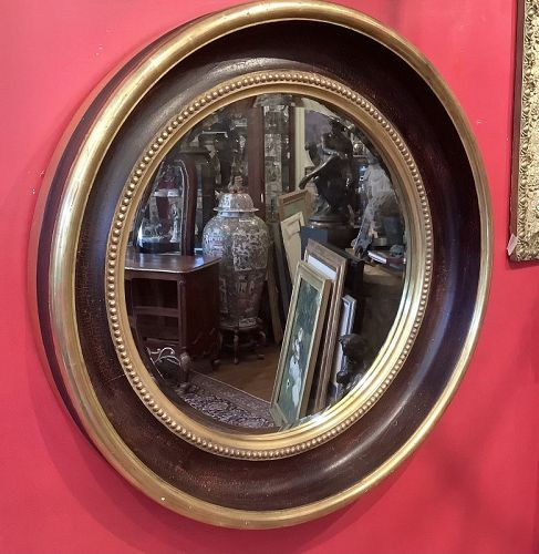"Gilt Wood Georgian Style Mirror Signed Thomas W.Morgan 39"""