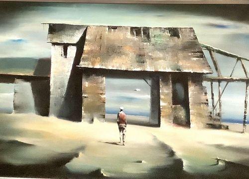 "Robert Watson Master American Surrealist 20x32"" Oil"