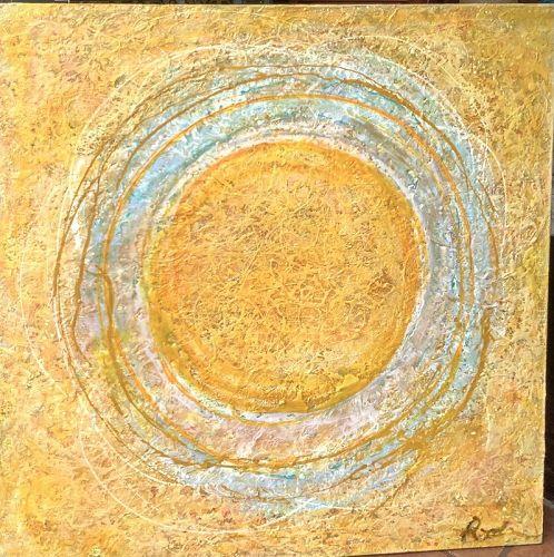 "SOLAR EXPERIENCE by Washington DC Artist Robin Sutliff 48x48"""