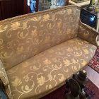 Louis XVI Ornate Silk upholstered Sofa  France circa 1860