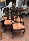 Portuguese Rococo Dinning Chairs set of 8 early 19th century