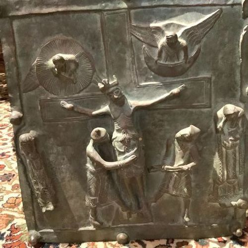 """St Zeno Italy  Bronze Panel The Decent Of Christ From The Cross"""""""