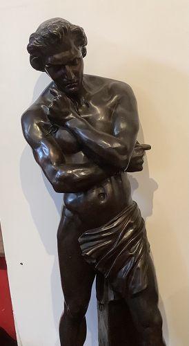 "DENIS FOYATIER (FRENCH, 1793-1863) Bronze Sculpture of Spartacus 31"""