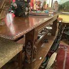 Spanish carved Walnut Refectory  table circa 1870-1900