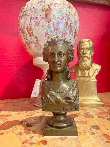 Marie Antoinette Table Bronze Bust, 1890