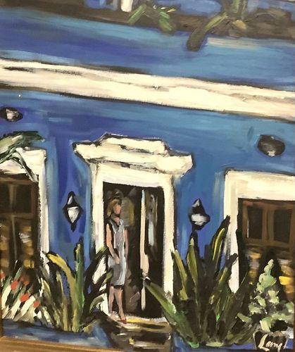 Anne Lane American Artist-Blue House San Sebastián