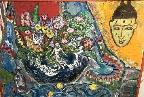 "Anne Lane American Master Artist-Hungarian Rhapsody,Oil 36x48"""