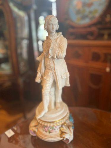 French Old Paris Porcelain  Bisque Figurines 1840s After Fragonard