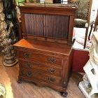 American Centennial Secretary Tambour Front with Chest Drawers