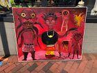 "Ivory Coast Born Artist Ephrem Kouakou-Red Demons"" Oil 40x50l"