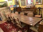 "Spanish 18th Century Renaissance Style Walnut Refectory Table 117""x37"""