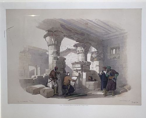 Original hand-colored lithograph by David Roberts (1796 – 1864)