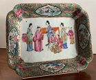 """Chinese Antique Famille Rose Mandarin Canton Plate Qing Dynasty 7x9"""""""