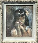 """Russian Expressionist Style Pastel Portrait 22x17"""""""