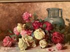 """Russian Artist Lunovic dated 1910,Floral Still Life22x28"""""""