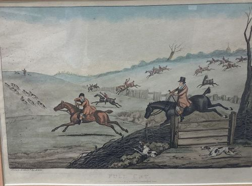 Nineteenth Century equestrian print By Henry Alkin 1785-1851