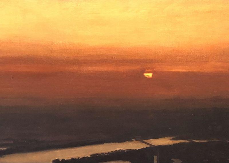 "John Court ,American Artist, sunset over Washington 36x48"""