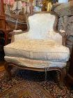 French Bergere Chair Louis XV Style Down Filled Upholstery