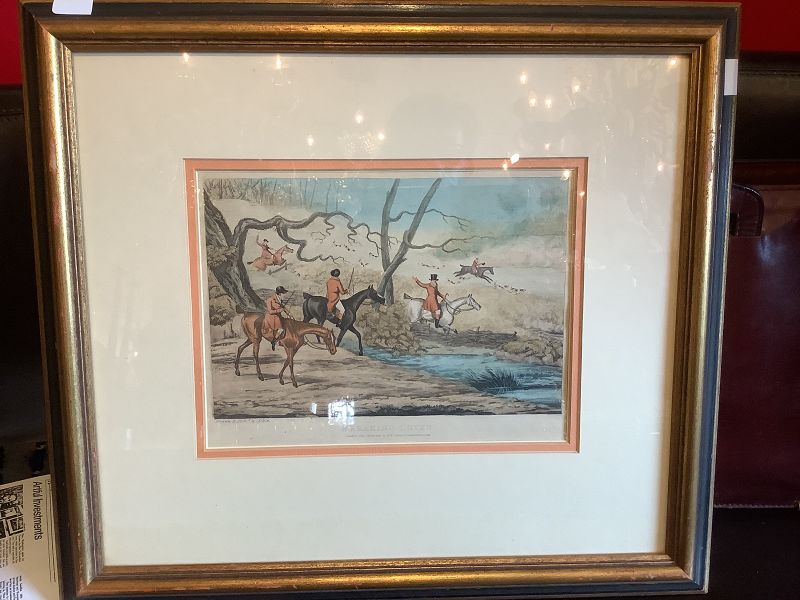 """""""Breaking Cover"""" by Alkin, Colored Lithograph London 1841"""