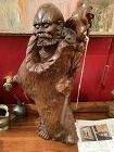 Japanese Nineteenth Century Carved Sculpture of a Deity