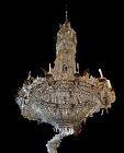 "Antique Italian Crystal Chandelier Circa 1870 12 candle 32x48"""