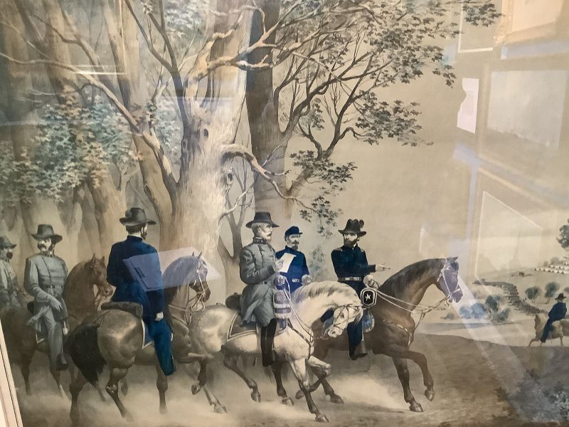 """Surrender Of Gen.Lee 1865 Lithograph Hand Colored 22x25"""""""