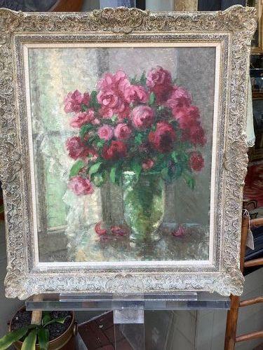 "Artist H. Adèma Floral Still Life, Oil 26x21"""