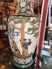 Japanese Tall Vase-Lamp Circa 1900