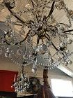 """French Crystal Chandelier Circa 1880-1900 24"""" wide x 32"""" electrified"""