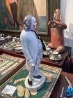 """The Old English Gentlemen"" Staffordshire Pottery Ben Franklin 16"""