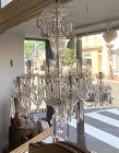 """Web Crystal London Chandelier, Circa 1850,  36"""" in height x 30"""" wide"""