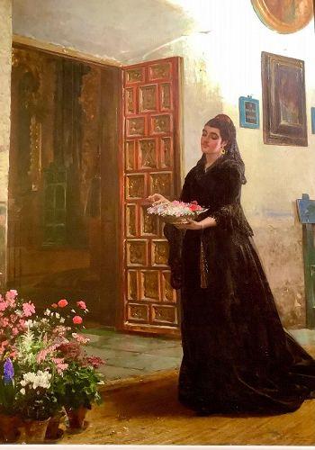 "British Artist John Haynes Williams 1836-1908 ""Sunday in Seville"""