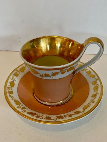 KPM Meissen Porcelain Cup and Saucer