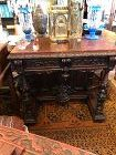 Ornate Carved French Renaissance Style Console Table 19th Century